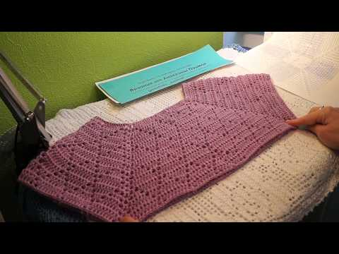 Филейная КОКЕТКА - реглан , Вязание КРЮЧКОМ ,crochet Blouse ( В № 187)