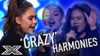 Girl Group Audition for X Factor Australia with 'Crazy' Harmonies | X Factor Global