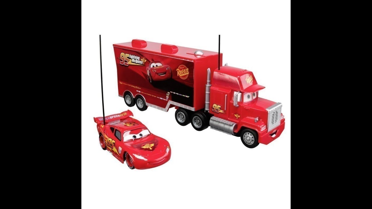 camion jouet disney pixar cars 2 mack youtube. Black Bedroom Furniture Sets. Home Design Ideas