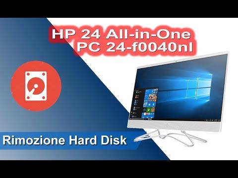 HP 24 All-in-One PC 24-f0040nl - 24 series, smontaggio e rimozione hard disk - Disassembly