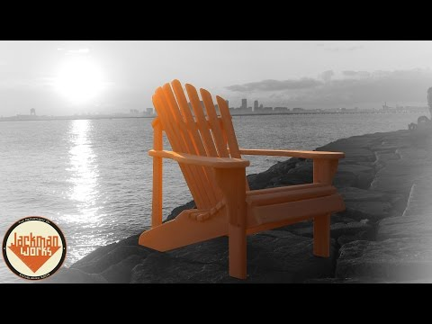 Oregon Patio Works Adirondack Chairs   YouTube
