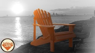 Plans available here: http://www.jackmanworks.com/shop/adirondack-chair-plan/ ➤ I do this for a living, help me live? http://www.