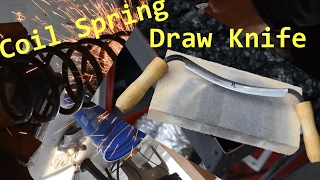 Draw Knife Forged from a Coil Spring -Blacksmithing Ep. 1-