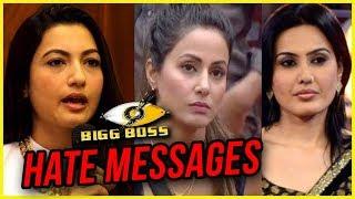 Gauahar Khan  Kamya Punjabis HATE MESSAGES For Hina Khan  Bigg Boss 11