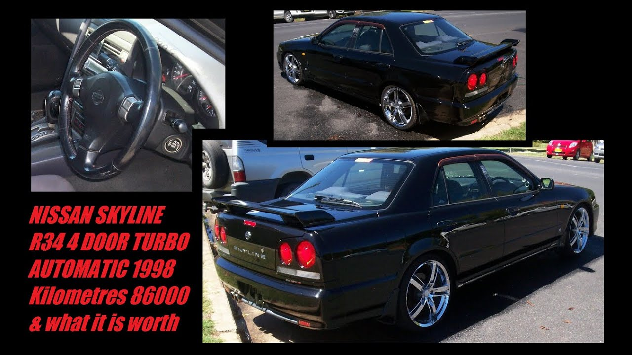 NISSAN SKYLINE R34 4 DOOR TURBO AUTOMATIC 1998 Kilometres 86000