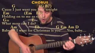 All I Want For Christmas Is You (Mariah Carey) Guitar Cover Lesson with Chords/Lyrics - TAB Intro