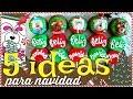 5 IDEAS para NAVIDAD con GALLETA cubierta con CHOCOLATE y BOMBÓN - Bomgoletas - Navidad 2017