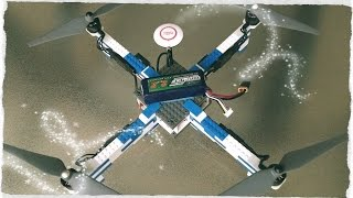 DIY Quadcopter Drone from LEGO Bricks Fast agile, carrying GoPro