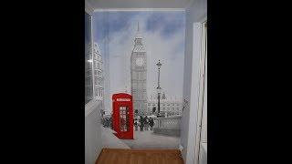 Художественная роспись стены акриловыми красками. Лондон. How to draw Big Ben-London