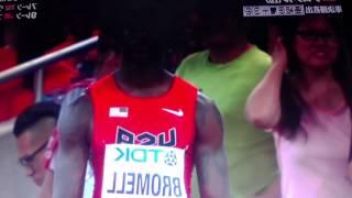 世界陸上2015年男子100m予選4組ブロメル9秒91