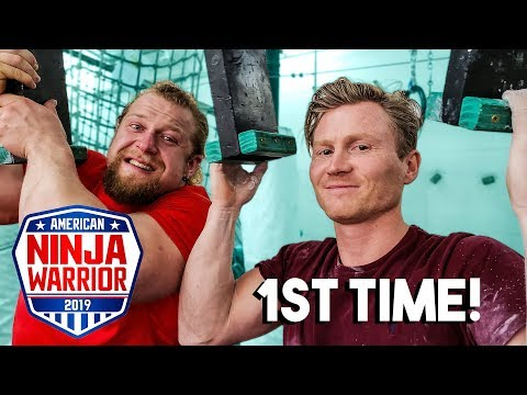 Pro Climber Tries Ninja Warrior *1ST TIME EVER*