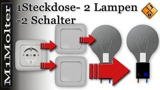 Anschluss Steckdose U 2 Lampen 2 Schalter Am Schaubild Von M1molter Youtube