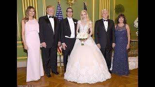 Steven Mnuchin Marries his Scottish Actress front of President Trump