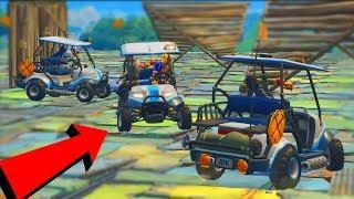 COLLIDE WITH BUMPER CARS?! -Fortnite minigame