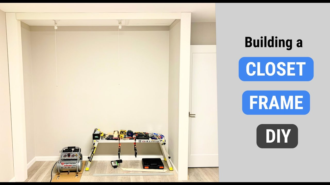 Download How to Build a Closet Frame in Bedroom | DIY