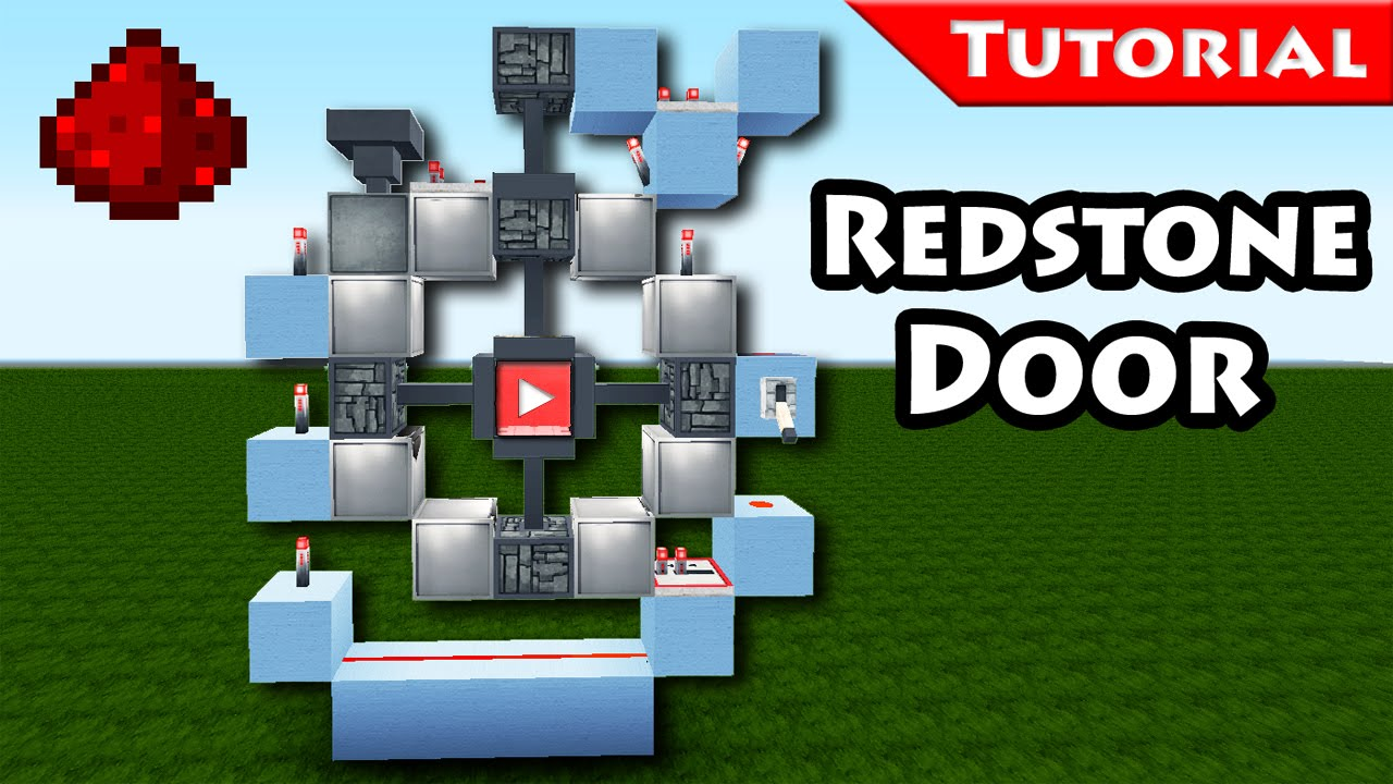 Minecraft Easy unique 3x3 redstone door tutorial/ for modern houses / How to make / 1.8 - YouTube  sc 1 st  YouTube & Minecraft: Easy unique 3x3 redstone door tutorial/ for modern ...