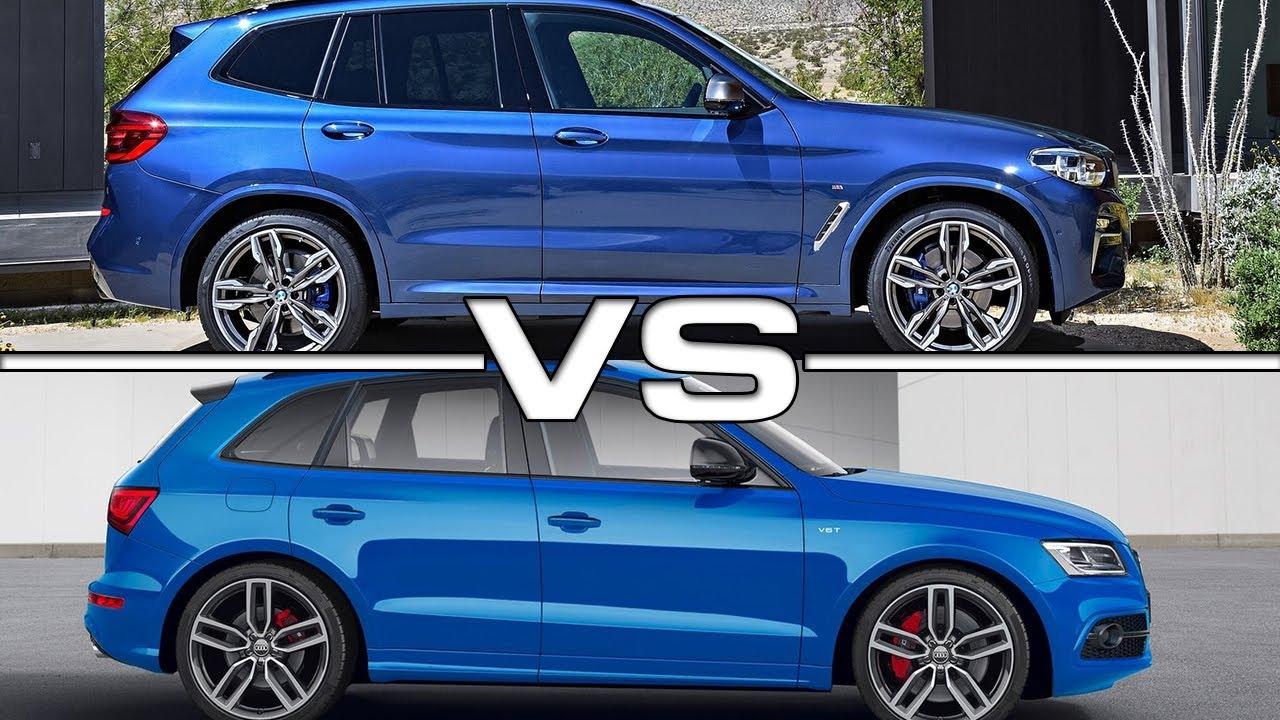 2018 Bmw X3 M40i Vs 2017 Audi Sq5 Youtube