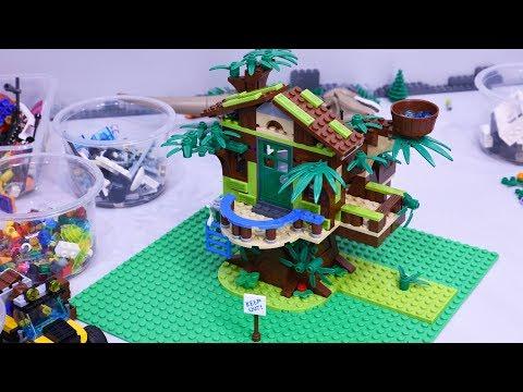 Building A LEGO Jungle 🌴 Tree House From The LEGO Friends (Mia's) Tree House Set