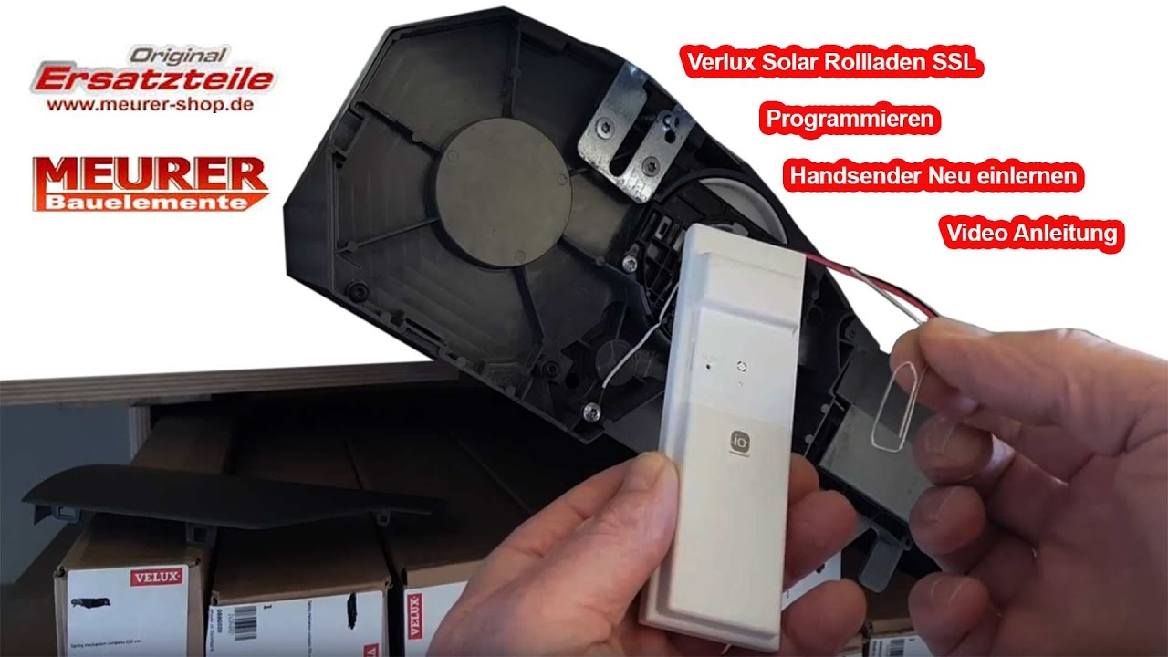velux solar rollladen handsender einlernen neu programmieren beim austausch youtube. Black Bedroom Furniture Sets. Home Design Ideas