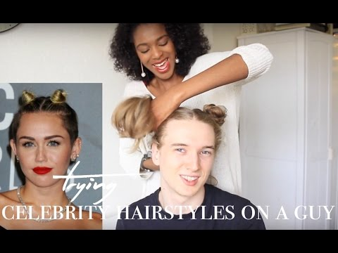 TRYING FEMALE CELEBRITY HAIRSTYLES ON A GUY