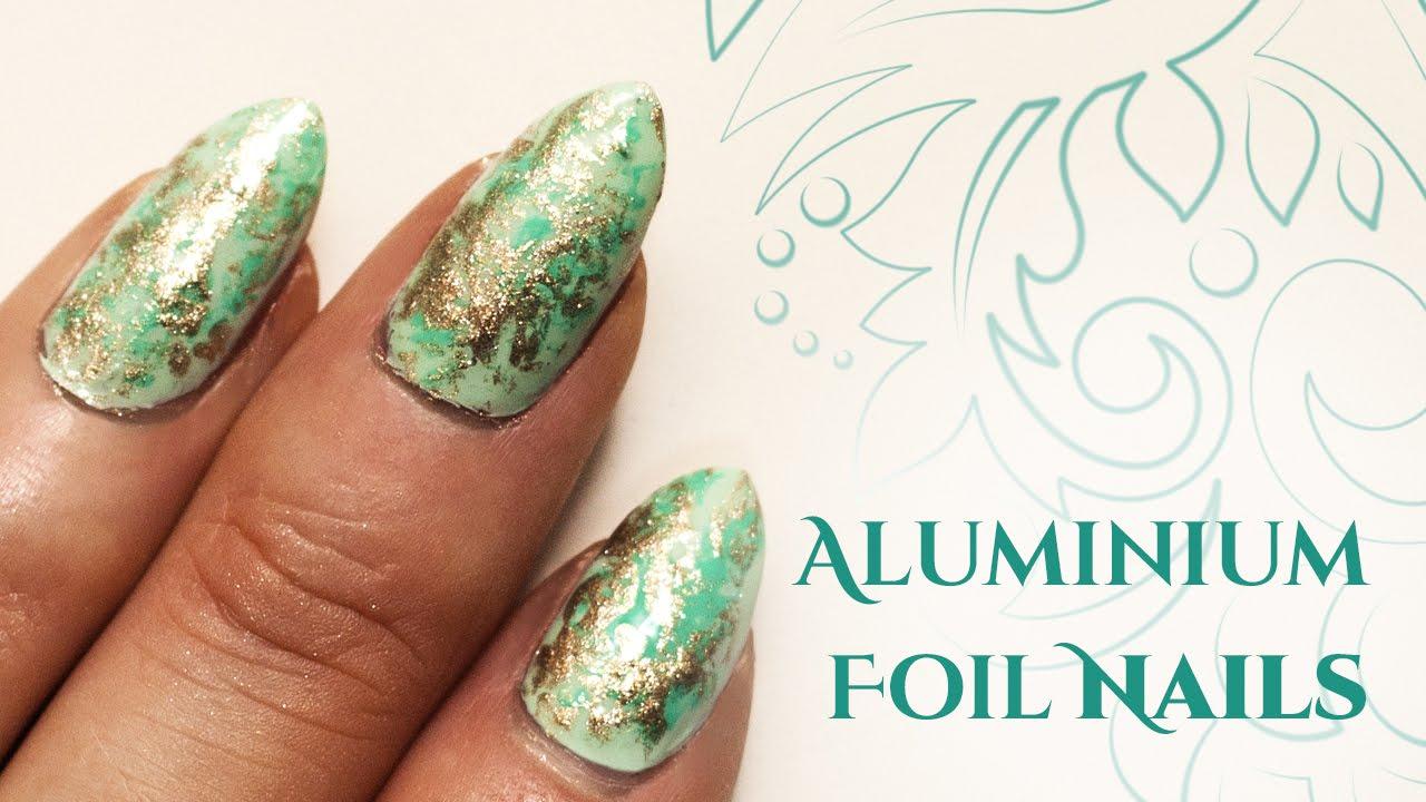 Aluminium Foil Nail Art Easy Edition Youtube