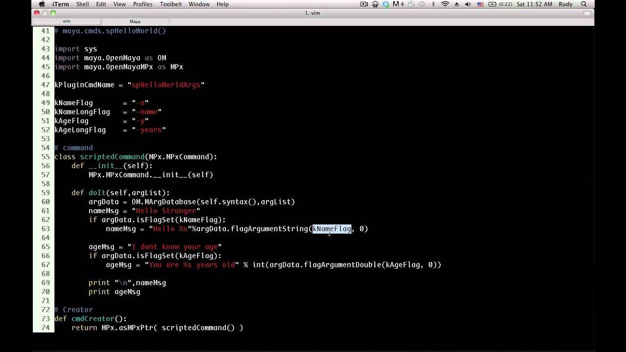 Maya Python API - Command Arguments