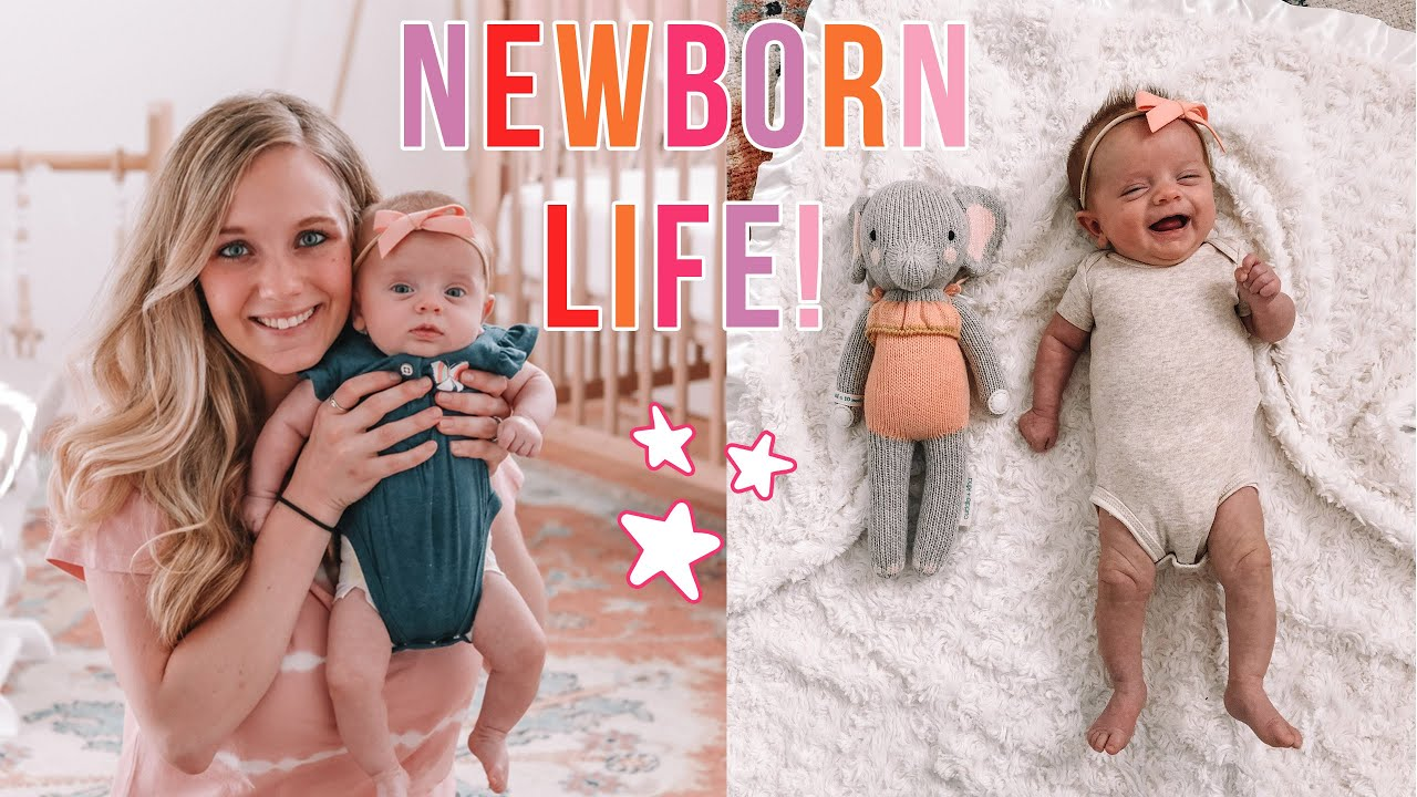 DAY IN MY LIFE WITH A NEWBORN! What it's REALLY like! :)