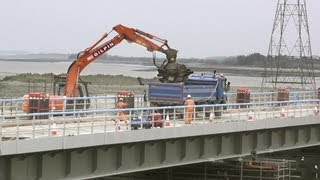 Track lifting at Loughor Old Bridge 24/03/2013