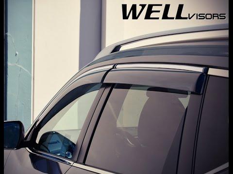 WELLvisors Side Window Deflector Vent Visor Installation