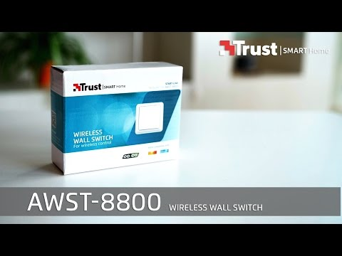 Trust Smart Home Installation AWST-8800 Wireless Wall Switch (FRENCH)