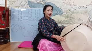 장구장단 배우기(기초-구음기표), 굿거리 장단, 최주경의 경기민요배우기,Learning the Basics of Korean Traditional Jangdan, Gutgeori