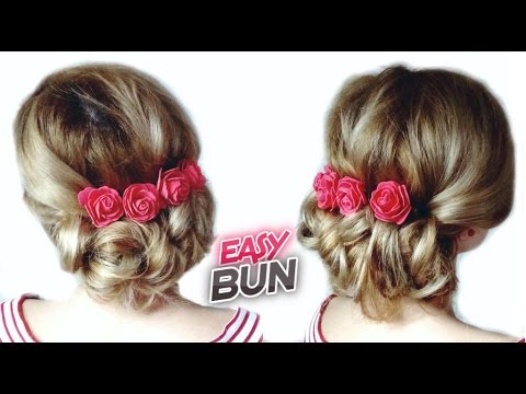 PROM HAIRSTYLE TUTORIAL EASY LOW BUN UPDO