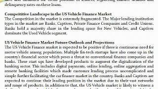 US Vehicle Finance Industry, US Auto Finance Market, Car Finance Market- Ken Research
