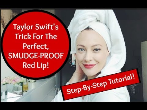 Valentine's Makeup Tutorial: Taylor Swift's Perfect NO-SMUDGE Red Lipstick thumbnail