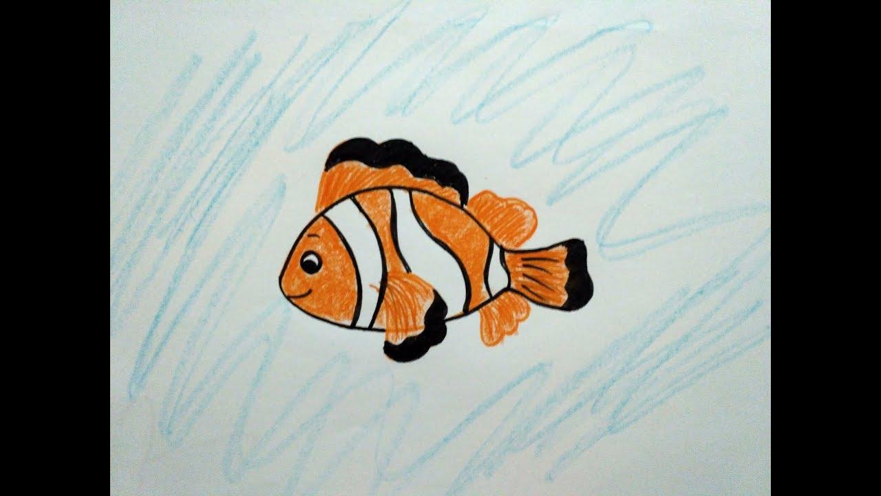 Mudah Gampang Cara Menggambar Nemo Ikan Badut Untuk Anak How To