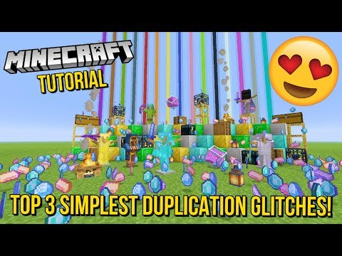 Minecraft Xbox/PS - TOP 3 SIMPLEST DUPLICATION GLITCHES! - EASY/FAST - UNLIMITED EVERYTHING - TU92
