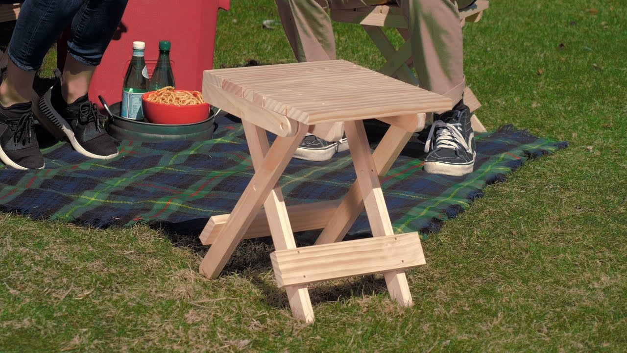 How To Build A Folding Stool Saturday Morning Workshop