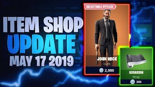 Fortnite Item Shop Update *JOHN WICK SKIN!* [17.05.2019 - 17th May 2019] Fortnite Battle Royale