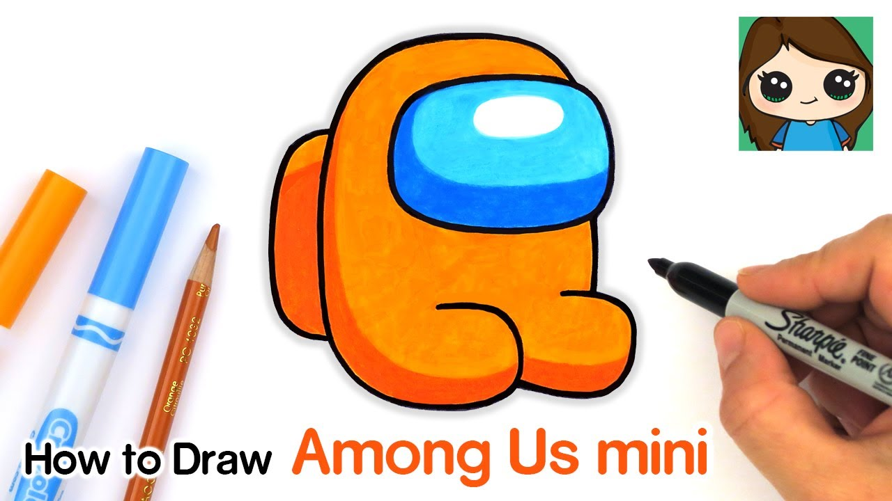 Among Us Space Suit Roblox How To Draw Among Us Mini Game Character Youtube