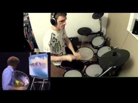 Bob Ross - Happy Little Clouds Remix Drum Cover