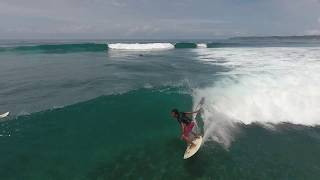 Surfing in Lombok island the most amazing surf point