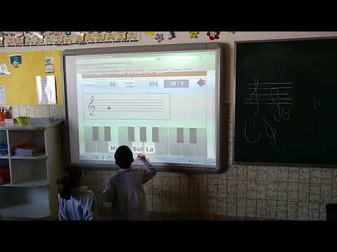 Lenguaje musical en la pizarra digital