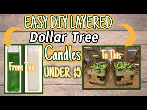 EASY DIY LAYERED Dollar Tree CANDLES   UNDER $5