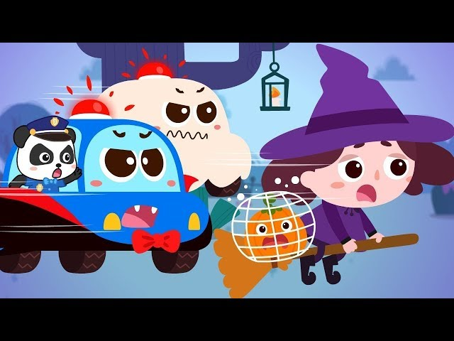 Scary Witch's Catching Pumpkins | Super Police Patrol Team | Halloween Songs | BabyBus Cartoon