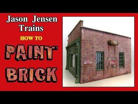 Painting brick walls for a model railroad structure Episode 014
