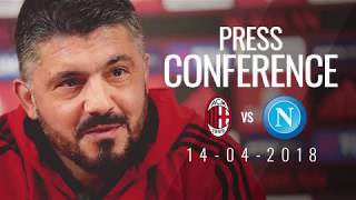 Coach gattuso's press conference in one minute ahead of the match ac milan v napoli