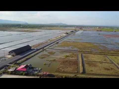 Salt farm view from the Air || salt farm at Kompot Province,