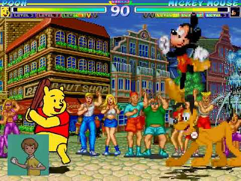 Winnie The Pooh Vs Mickey Mouse MUGEN BATTLE