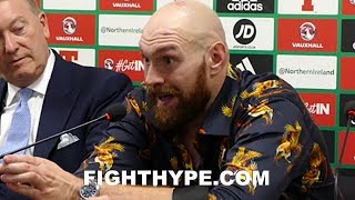 """TYSON FURY BRUTALLY HONEST ABOUT WILDER """"HARDEST FIGHT"""" PLANS; EXPLAINS WHY """"I'M REALLY READY"""""""