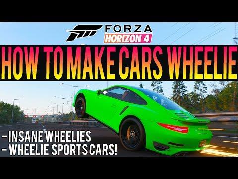 Forza Horizon 4 - How To Make A Wheelie Tune! - INSANE Supercar Wheelies! thumbnail